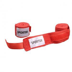 Bandaj pentru box bumbac rosu Sporter