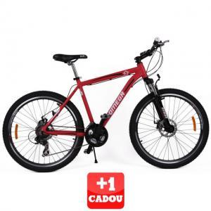 "Bicicleta Omega Hawk 26"" 21 viteze rosu+1 CADOU"