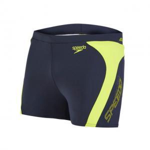 Boxeri barbati Speedo Logo Splice verde/gri1