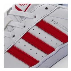 Pantofi sport barbati Adidas Originals SUPERSTAR alb/rosu2