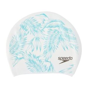 Casca inot adulti Speedo print long hair alb/verde