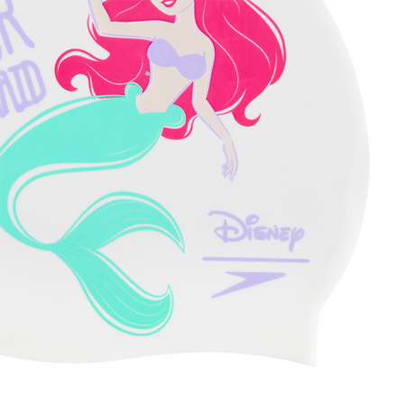 Casca inot copii Speedo Disney Little Mermaid Slogan alb/mov1