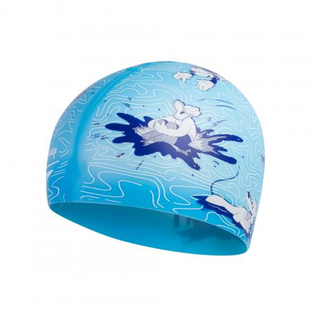 Casca inot copii Speedo Disney Mickey Mouse Slogan albastru/alb1