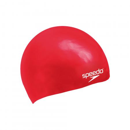 Casca inot pentru copii din silicon moulded Speedo rosie0