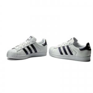 Pantofi sport dama Adidas Originals SUPERSTAR alb/albastru1