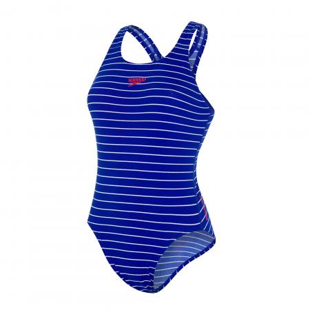 Costum baie femei Speedo Endurance+ Printed Medalist albastru/alb0