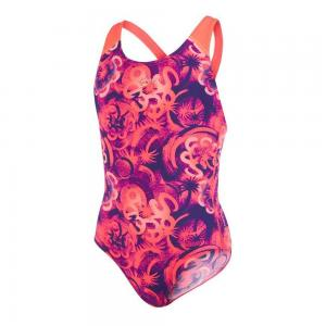 Costum de baie allover splash back Speedo pentru fete Mov/Rosu0