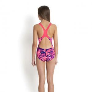 Costum de baie allover splash back Speedo pentru fete Mov/Rosu5