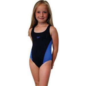 Costum de baie Lepa splash back Speedo pentru fete negru/albastru0