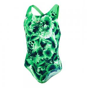Costum de baie MOTIONKICK splash back Speedo pentru fete verde