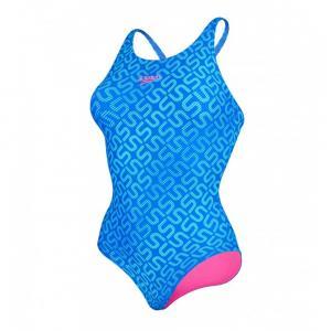Costum de baie Speedo pentru femei Monogram allover muscleback albastru