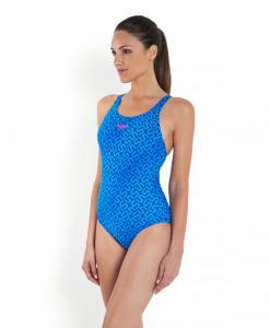 Costum de baie Speedo pentru femei Monogram allover muscleback albastru3