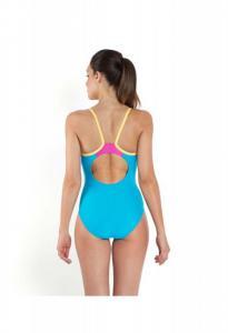 Costum de baie Speedo pentru femei thistrap muscleback portocaliu/turcoaz4