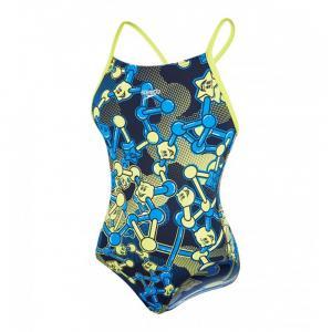 Costum de baie Speedo pentru fete allover rippleback negru/violet/portocaliu0