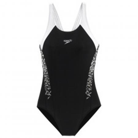 Costum pentru femei Speedo Boom Splice MuscleBack negru/alb0