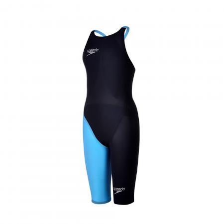 Costum profesional inot Speedo pentru femei Fastskin LZR racer elite 2 openback kneeskin bleumarin/albastru0