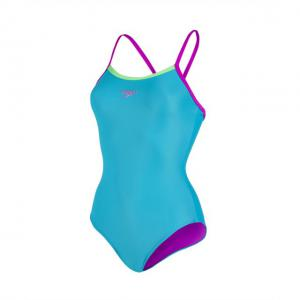 Costum Speedo femei thinstrap muscleback albastru/verde/mov3
