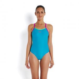 Costum Speedo femei thinstrap muscleback albastru/verde/mov1