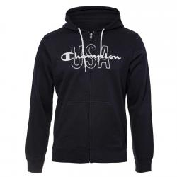Hanorac Champion Hooded Full Zip Sweatshirt bleumarin