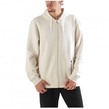 Hanorac cu fermoar sport barbati Champion Hooded Sweatshirt Fall Fleece alb