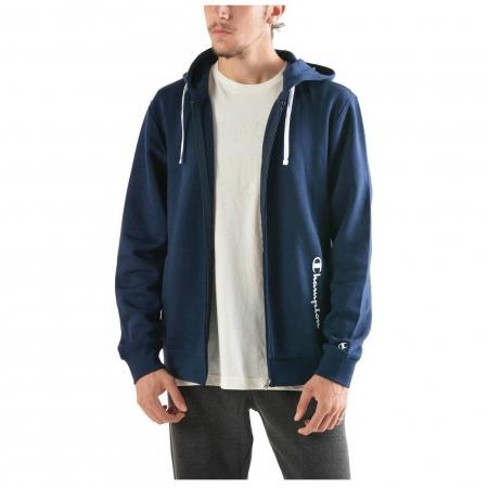 Hanorac cu fermoar sport barbati Champion Hooded Sweatshirt Fall Fleece bleumarin