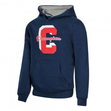 Hanorac cu gluga sport copii Champion Hooded Sweatshirt Fall Fleece bleumarin0