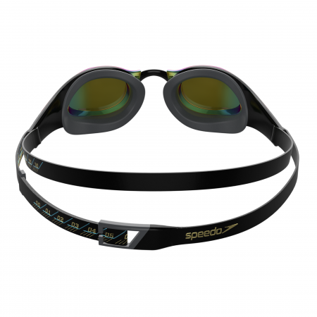 Ochelari inot adulti unisex Speedo Fastskin Pure Focus Mirror negru/auriu3