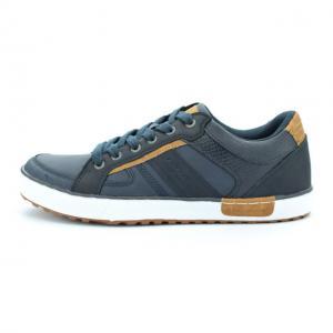Pantofi sport barbati piele ecologica RNS-162-3014 navy 41-460