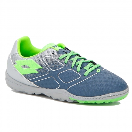 Pantofi sport copii Lotto Maestro 700 TF albastru/verde