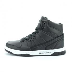 Pantofi sport copii piele ecologica RNS-162-3025 black 36-410