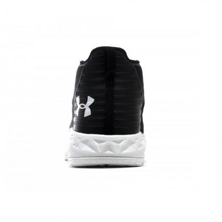 Pantofi sport inalti barbati Under Armour UA Jet Mid negru/alb4