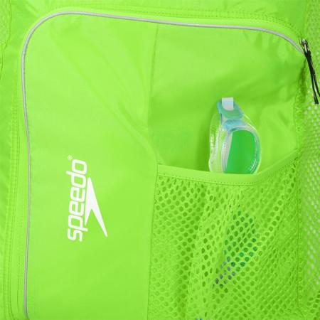 Saculet de plasa unisex pentru accesorii Speedo Deluxe verde4