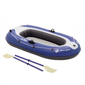 Set barca Carravelle gonflabila KK55 albastru/gri Sevylor0