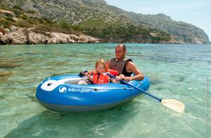 Set barca Carravelle gonflabila KK55 albastru/gri Sevylor2