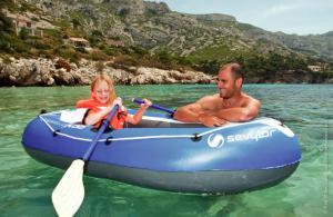 Set barca Carravelle gonflabila KK55 albastru/gri Sevylor5