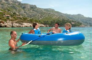 Set barca Carravelle gonflabila KK65 albastru/gri Sevylor4