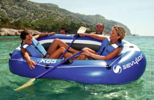 Set barca Carravelle gonflabila KK65 albastru/gri Sevylor5
