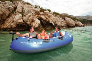 Set barca Carravelle gonflabila KK85 albastru/gri Sevylor2