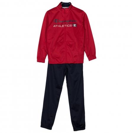 Trening copii Champion Full Zip poliester rosu/bleumarin