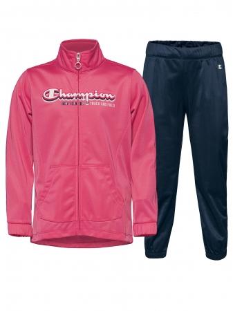 Trening copii Champion Full Zip poliester roz/bleumarin