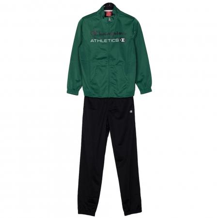 Trening copii Champion Full Zip poliester verde/negru