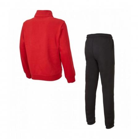Trening copii Champion Full Zip Ultra Light Fall Fleece rosu/gri1