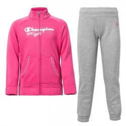 Trening copii Champion Sweatsuit roz/gri