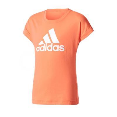 Tricou copii Adidas YG LOGO TEE portocaliu