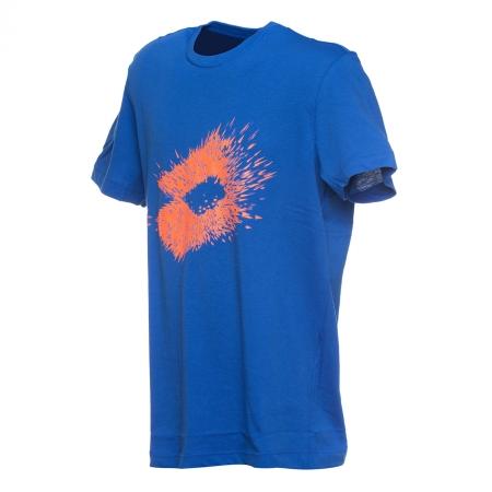 Tricou maneca scurta barbati Lotto L73 IV albastru/portocaliu