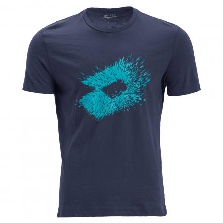 Tricou maneca scurta barbati Lotto L73 IV bleumarin/albastru