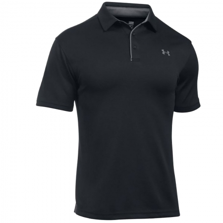 Tricou polo barbati Under Armour Tech Polo negru0