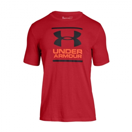 Tricou sport barbati Under Armour UA GL Foundation SS T rosu0