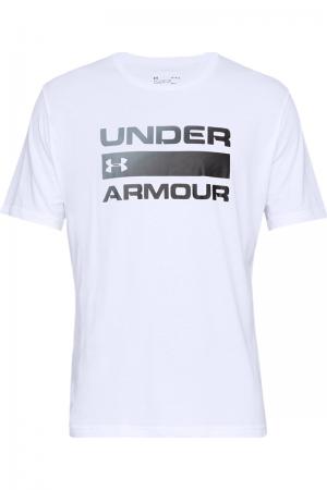 Tricou sport barbati Under Armour UA TEAM ISSUE WORDMARK SS alb